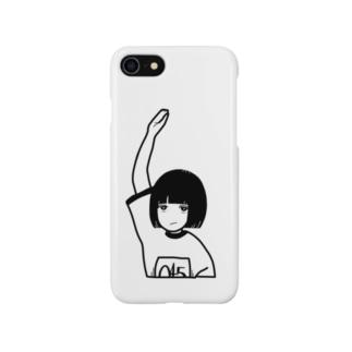 手をあげる女 Smartphone cases