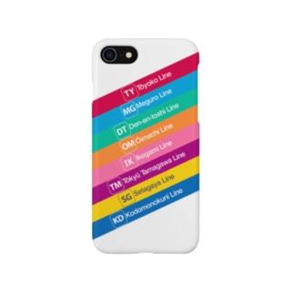 鉄道 iPhoneケース(東急全線) Smartphone cases