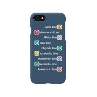 鉄道 iPhoneケース(東京メトロ全線) Smartphone cases