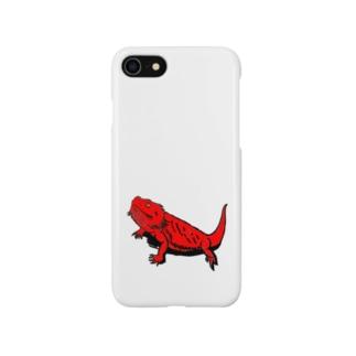 フトアゴ レッド Smartphone cases