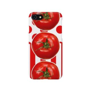 上からトマト Smartphone cases