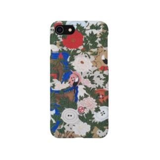 釦小禽図 Smartphone cases