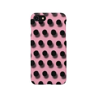 ドット ピンク Smartphone cases