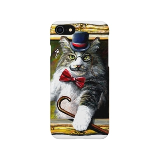 吾輩は猫でR スマートフォンケース