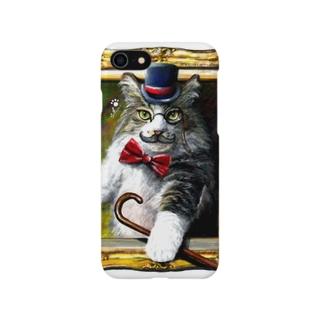 吾輩は猫でR Smartphone cases
