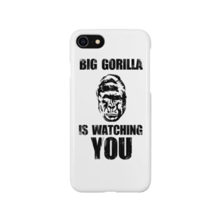 BIG GORILLA IS WATCHING YOU(黒字) スマートフォンケース