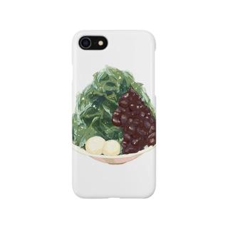 宇治抹茶金時かき氷 Smartphone cases