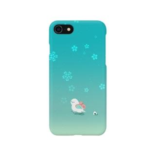 遠足鳥 blue Smartphone cases