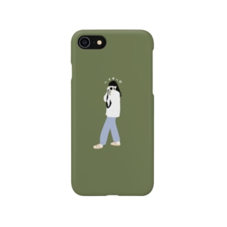 【完売】ハイチーズ(グリーン) スマートフォンケース