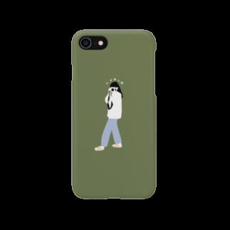 そう l イラストレーターの【完売】ハイチーズ(グリーン) スマートフォンケース