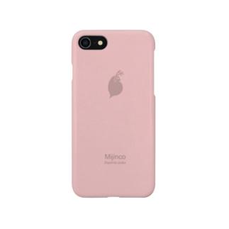 シンプルミジンコ(ピンク) Smartphone cases