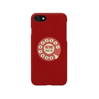 赤電話 レトロ【iPhone6s, 7, 8】 Smartphone cases