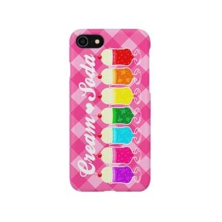 7色クリームソーダ Smartphone cases
