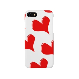 赤ハート Smartphone cases