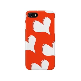 白ハート Smartphone cases