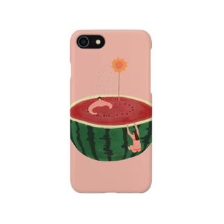 スイカで過ごす夏休み Smartphone cases