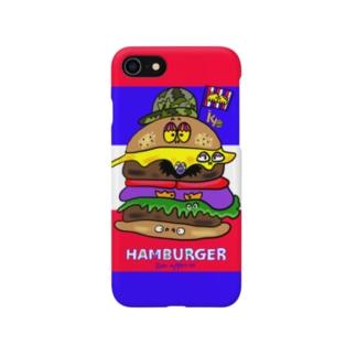 あとりえ からじくぇーのhamburger Smartphone cases
