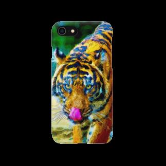 谷中画廊のトラ01 Smartphone cases