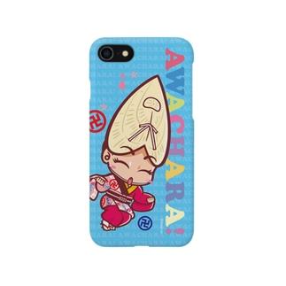 蜂須賀連①スマホケース(阿波キャラ)  Smartphone cases