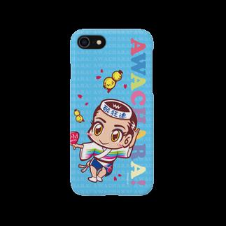 徳島 阿波キャラ!有名連の酔狂連①スマホケース(阿波キャラ)  Smartphone cases