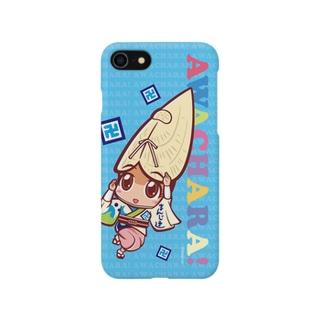 まんじ連①スマホケース(阿波キャラ)  Smartphone cases