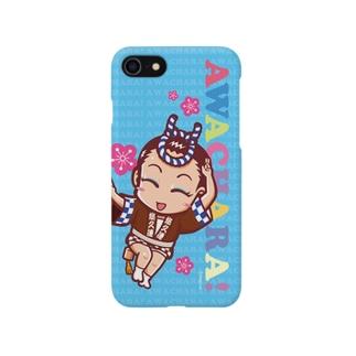 悠久連③スマホケース(阿波キャラ)  Smartphone cases