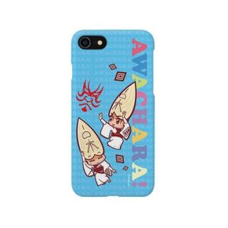 藝茶楽②スマホケース(阿波キャラ)  Smartphone cases