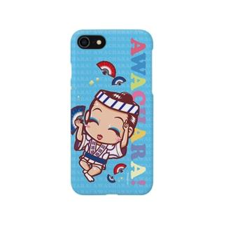 阿波扇①スマホケース(阿波キャラ)  Smartphone cases