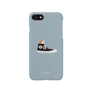 柴スニーカー(赤柴) Smartphone cases