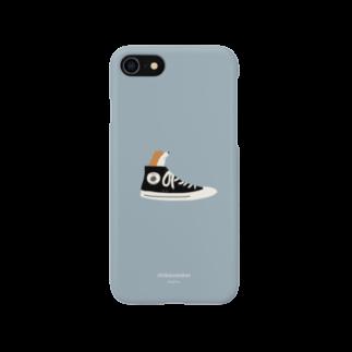 togirouの柴スニーカー(赤柴) Smartphone cases