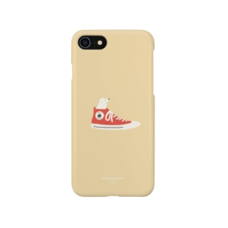 柴スニーカー(白柴) Smartphone cases