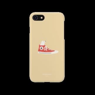 togirouの柴スニーカー(白柴) Smartphone cases