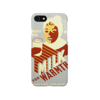 PD selectionのVintage Milk Poster:ヴィンテージ・ミルクポスター Smartphone cases