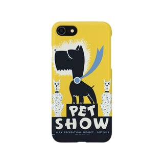 Dog Show Cartoon Poster:ドッグショー漫画ポスター Smartphone cases