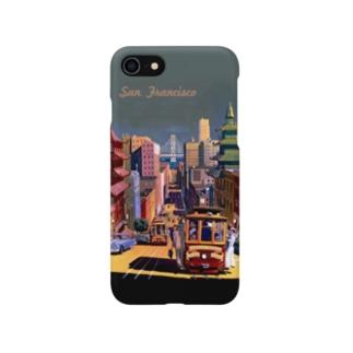San Francisco Travel Poster:サンフランシスコ トラベルポスター Smartphone cases