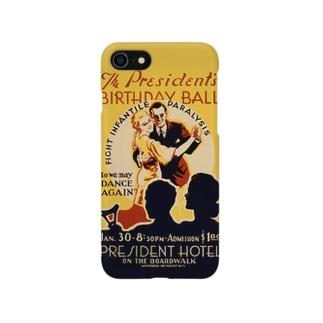 Vintage Poster Birthday Ball:ヴィンテージ バースディポスター Smartphone cases