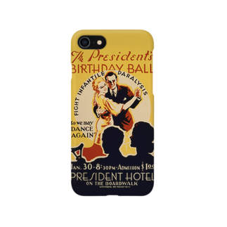 PD selectionのVintage Poster Birthday Ball:ヴィンテージ バースディポスター Smartphone cases