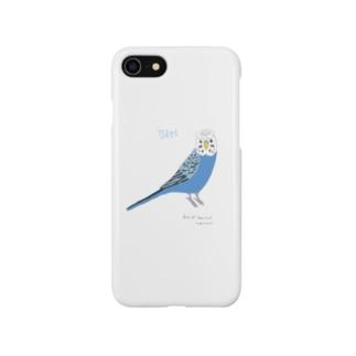 セキセイインコ スマホケース Smartphone cases
