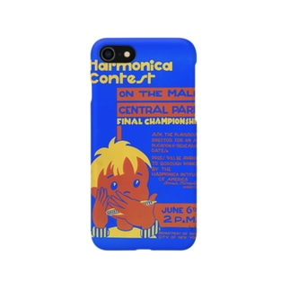 Vintage Harmonica Contest Poster:ヴィンテージ・ハーモニカ・コンテストポスター Smartphone cases