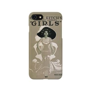 Vintage Girls Comedy Poster:ビンテージガールズコメディポスター スマートフォンケース
