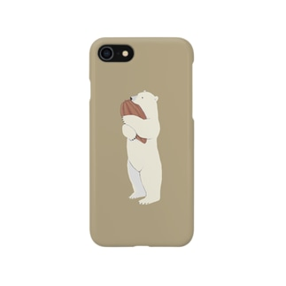 シロクマカカオ 01 Smartphone cases
