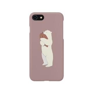シロクマカカオ 02 Smartphone cases
