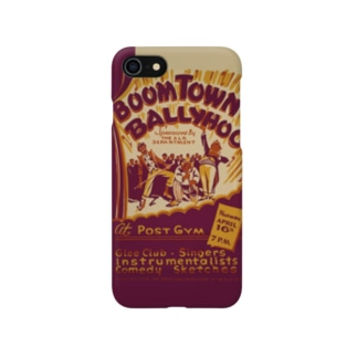 Boomtown Comedy Vintage Poster:ブームタウンコメディ ビンテージポスター Smartphone cases