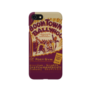 PD selectionのBoomtown Comedy Vintage Poster:ブームタウンコメディ ビンテージポスター Smartphone cases