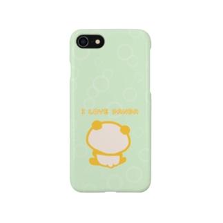 シャボン:グリーン(I LOVE PANDA) Smartphone cases
