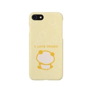 シャボン(I LOVE PANDA:クリーム) Smartphone cases