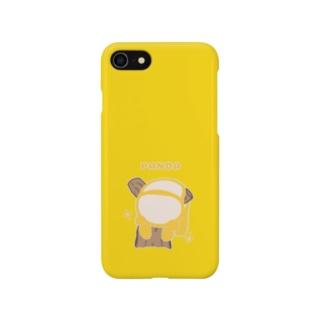 だらりんパンダ(イエロー) Smartphone cases