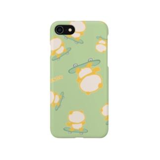 スケボーパンダ(全面:グリーン) Smartphone cases