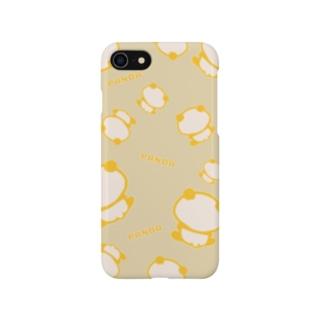 まったりパンダ(全面:ベージュ) Smartphone cases