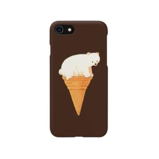 しろくまアイス Smartphone cases